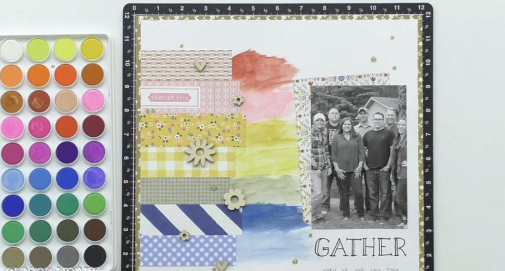 Custom Color Mixing with Watercolor Paints Layout
