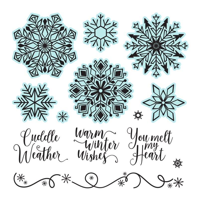CTMH Elegant Snowflakes Stamp Set