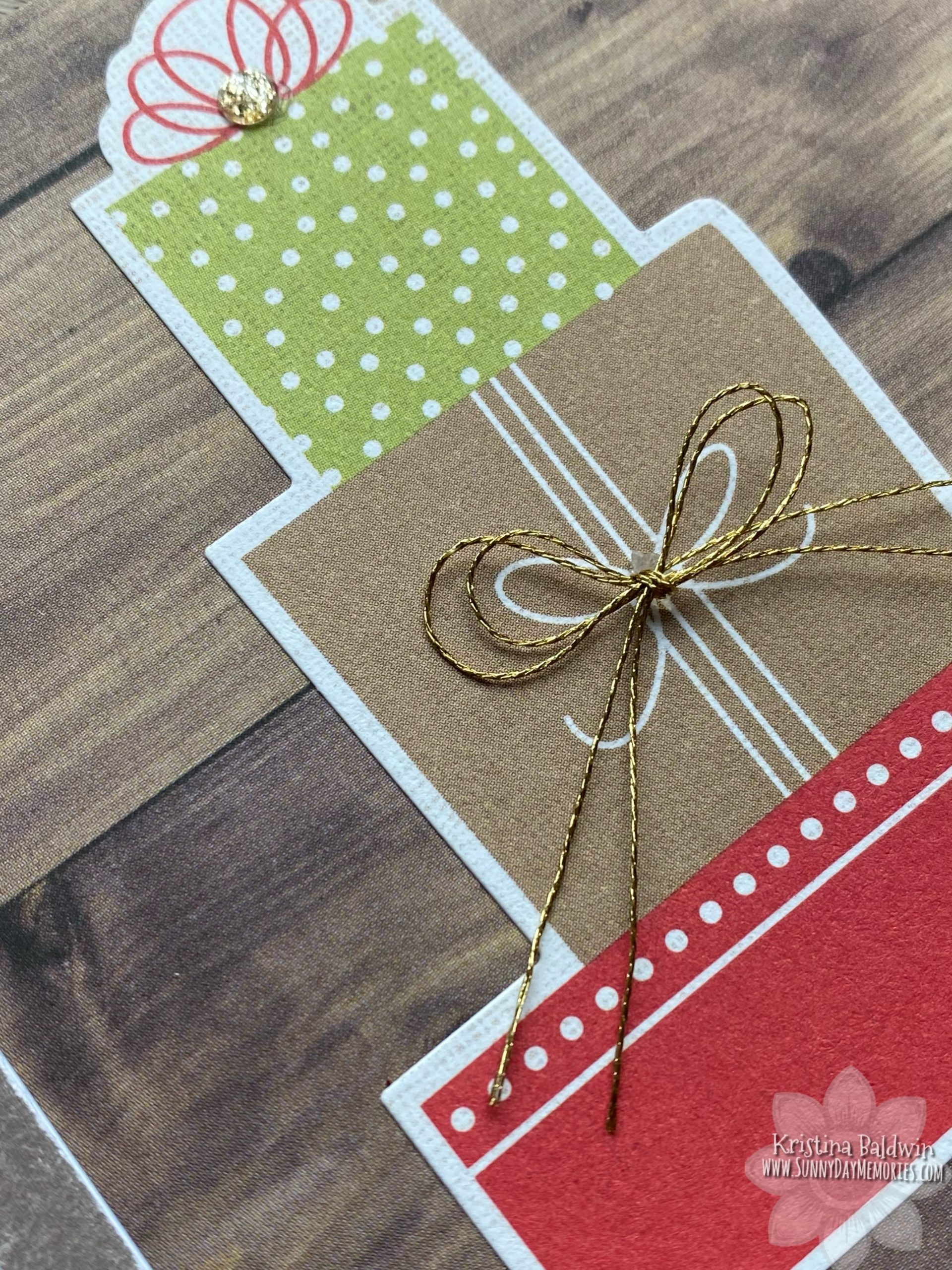 Easy Holiday Gifts Card Closeup