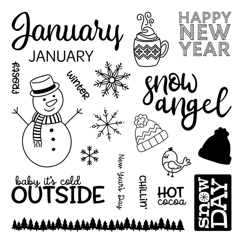 CTMH Months of the Year January Stamp Set