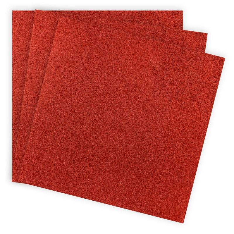 CTMH Scarlet Glitter Paper