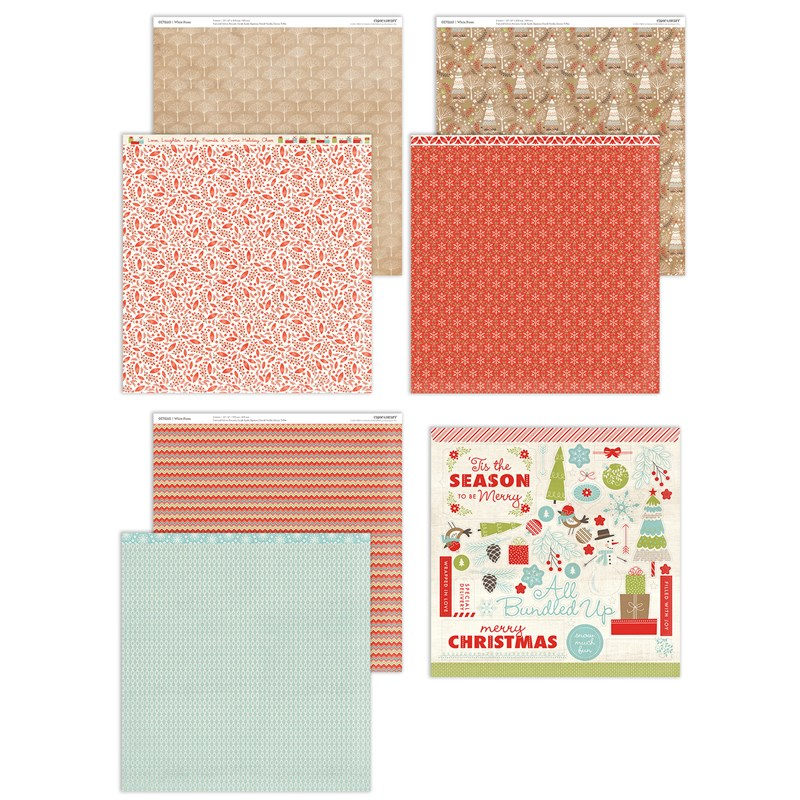 CTMH White Pines Paper Pack + Sticker Sheet