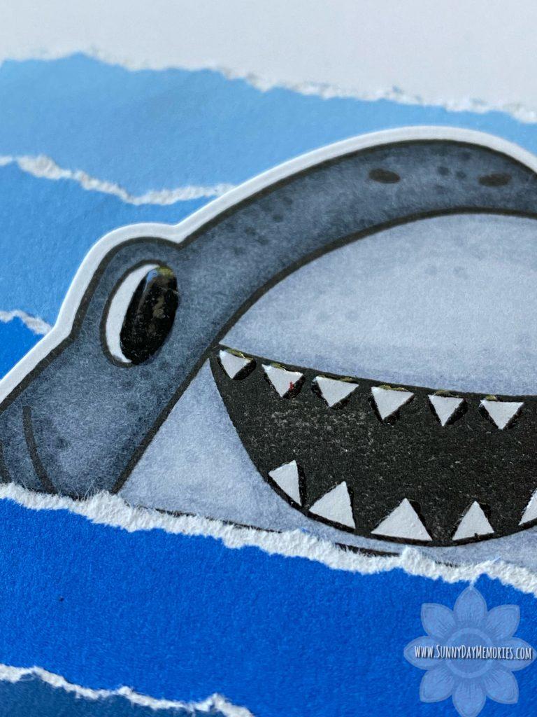 You're Jawsome Shark Card Closeup