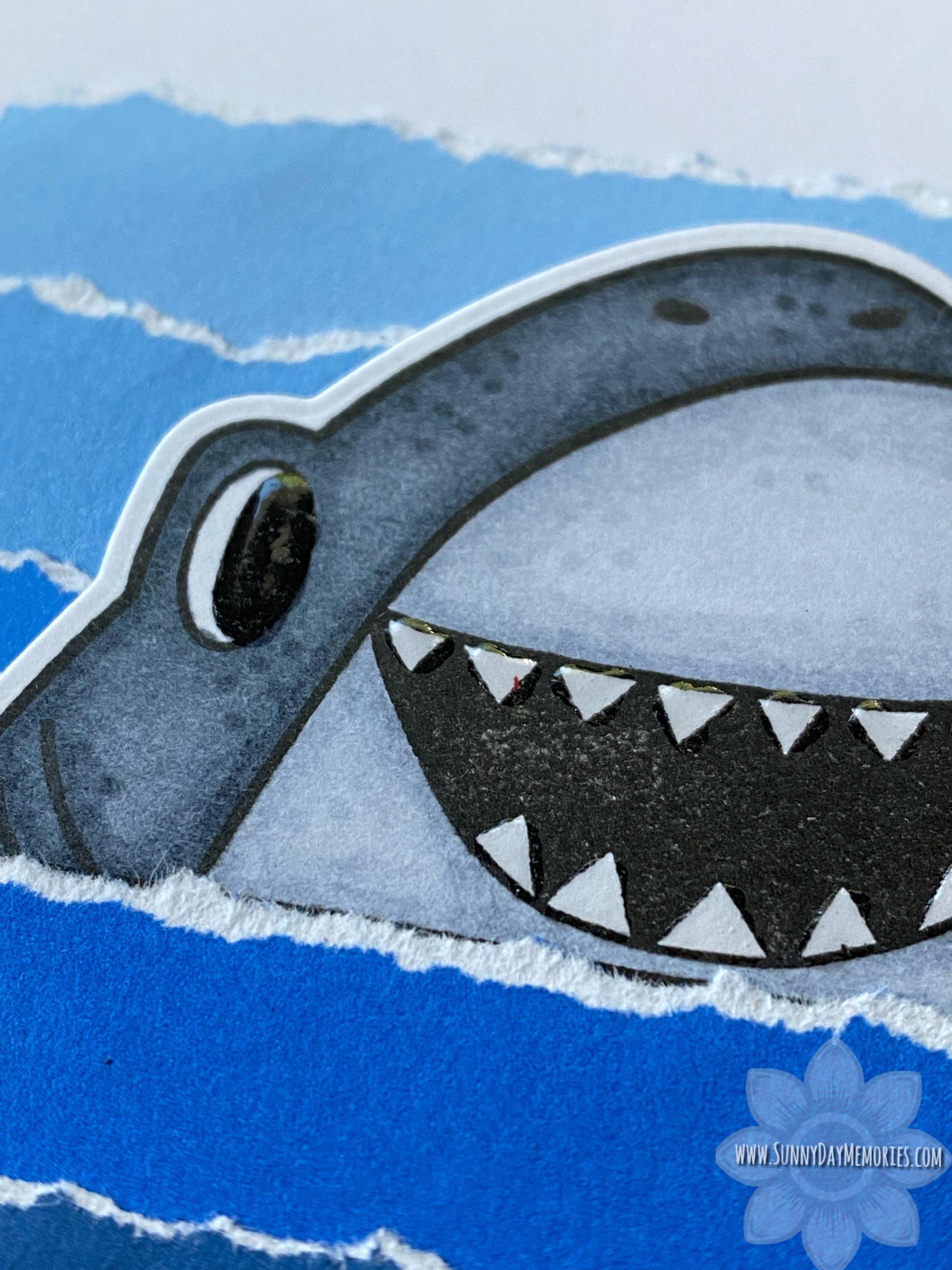 CTMH You're Jawsome Shark Card Closeup