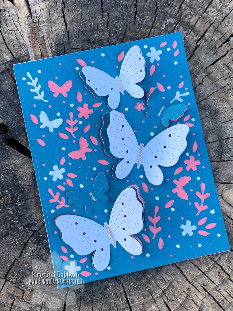 Butterfly Card with CTMH's 2020-2021 Retiring Colors
