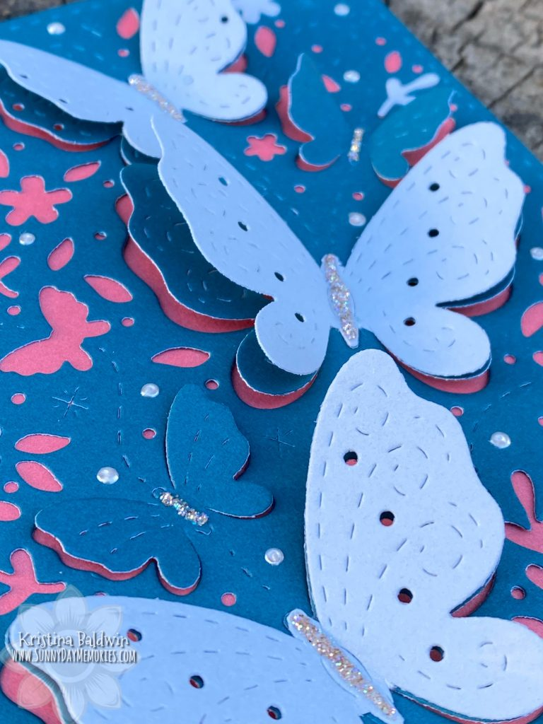 Closeup of Layered Butterfly Card