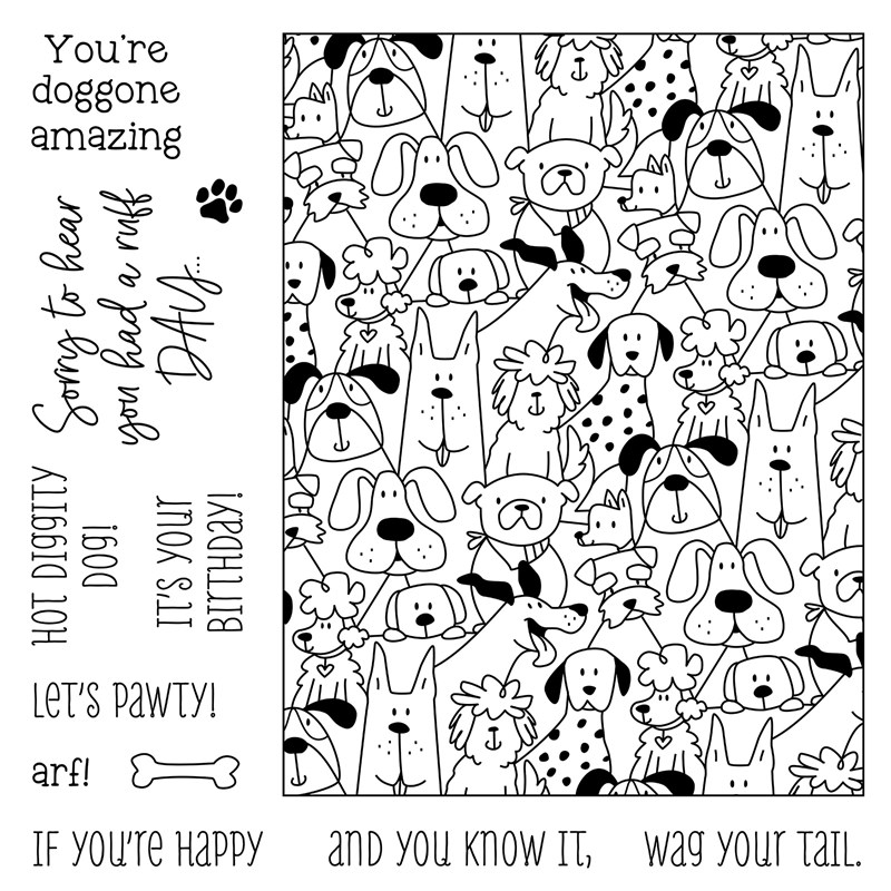 CTMH Let's Paw-ty Stamp Set