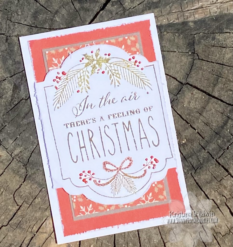 Mini Christmas Slimline Card