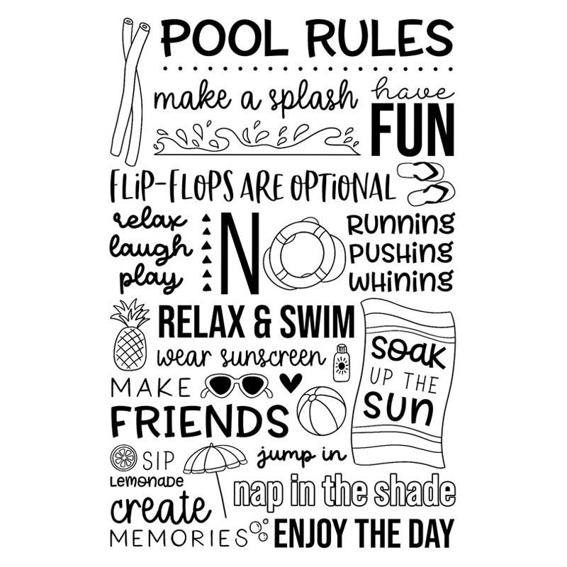 CTMH Pool Rules Stamp Set