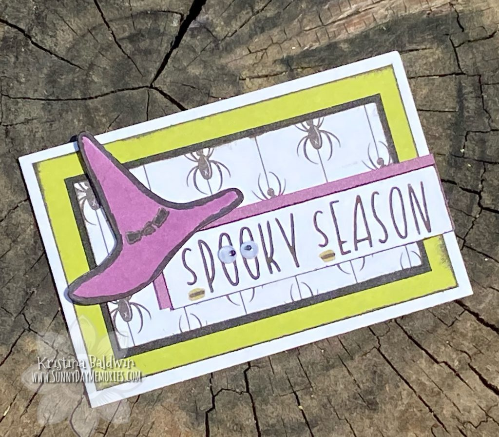 CTMH Boo Crew Spooky Season Mini Slimline Card