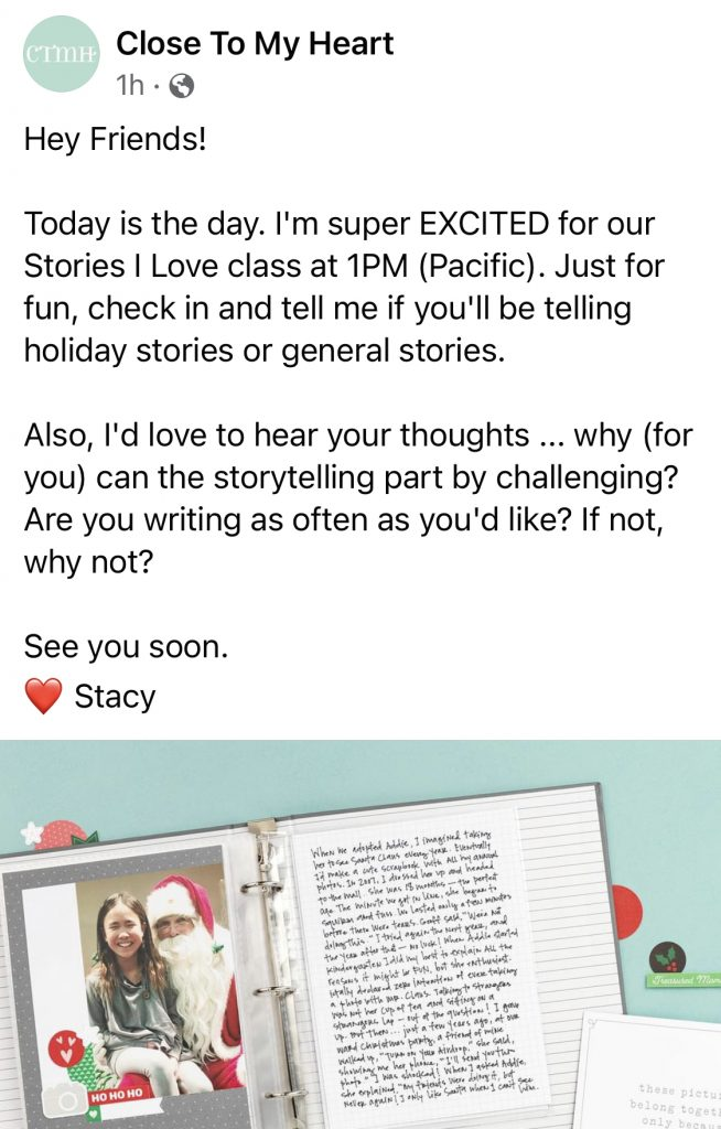 Stacy Julian's Free I Love Stories Message