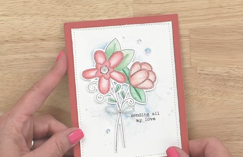 CTMH Card with Watercolor Pencil Shading