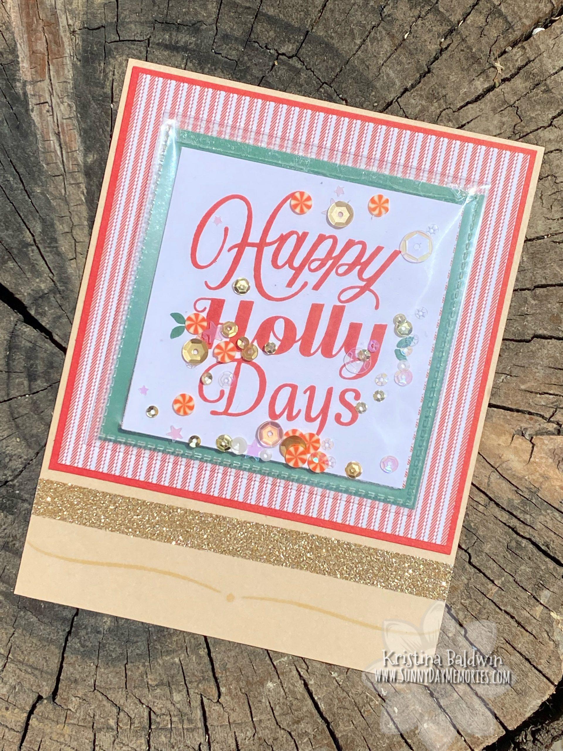 Holly Days Flip Flap Shaker Card