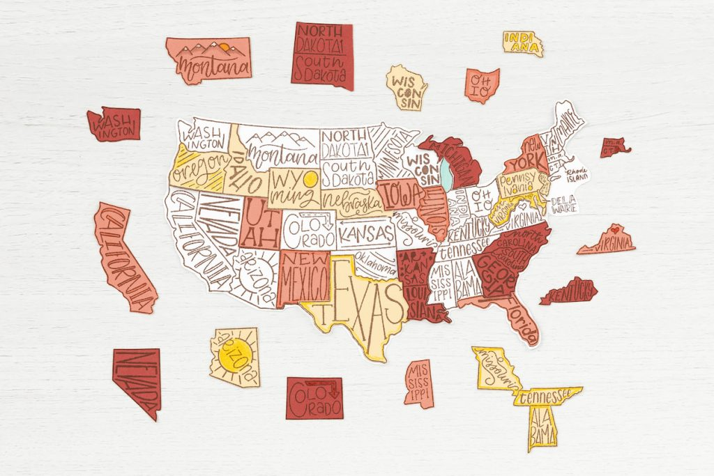 How to Paper Piece Stamped United States