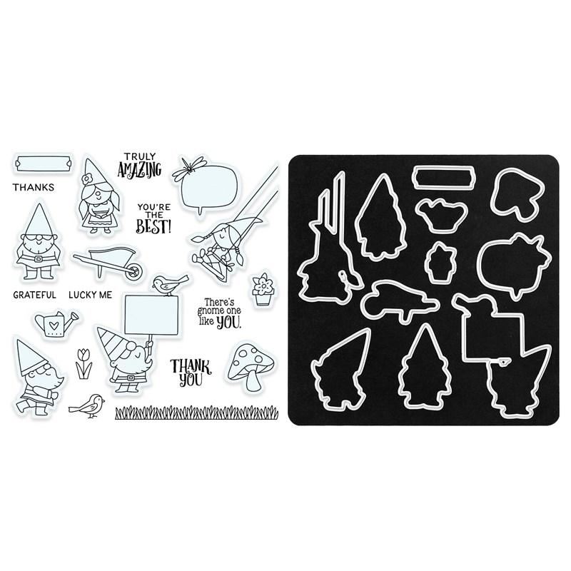 CTMH Mini Garden Gnomes Stamp + Thin Cuts