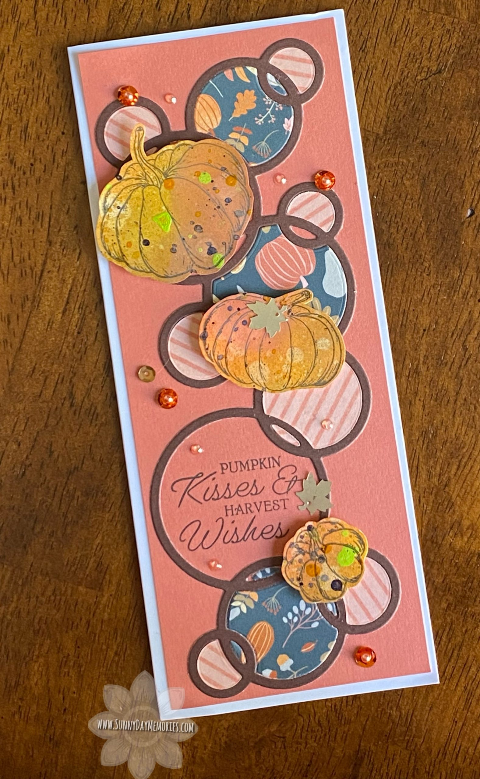 CTMH A World with Octobers Slimline Card