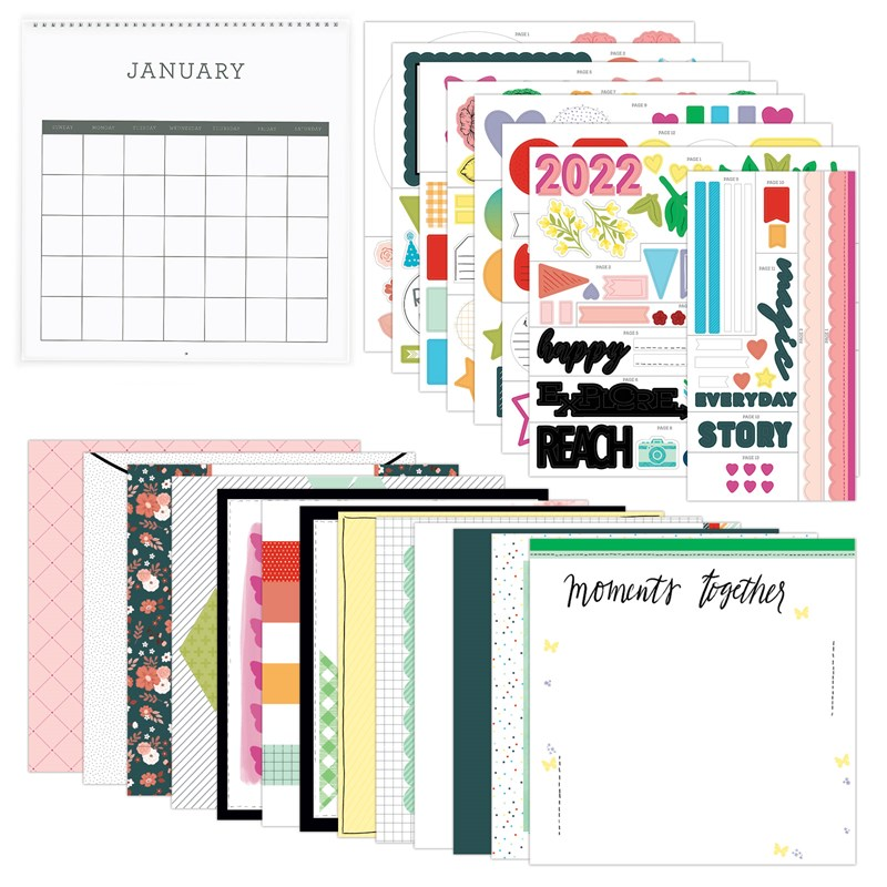 CTMH Remember Today Calendar Kit without Stamp Set